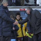 Arsene Wenger et Gerard Houllier en novembre 2010