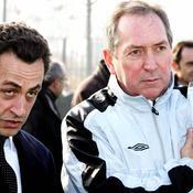 Nicolas Sarkozy avec Gérard Houllier en décembre 2006