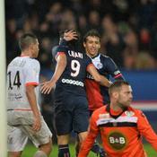 PSG-Lorient, Cavani doublé