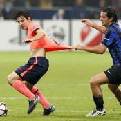 Inter Milan FC Barcelone, Lionel Messi Christian Chivu
