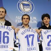 Hertha Berlin, Hubnik, Gekas, Kobiashvili