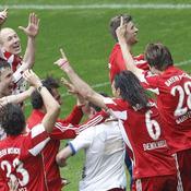 Le Bayern Munich célèbre son nouveau titre de champion d'Allemagne