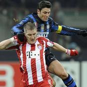 Inter Milan - Bayern Munich : Bastian Schweinsteiger Javier Zanetti