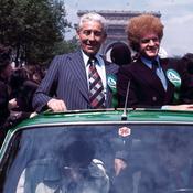La descente des Champs-Elysées en 1976