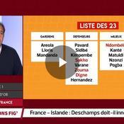 Équipe de France : Deschamps doit-il innover contre l'Islande ?