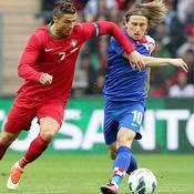 Cristiano Ronaldo (Portugal) et Luka Modric (Croatie)