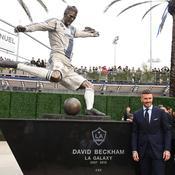 David Beckham a sa statue devant le stade du Los Angeles Galaxy