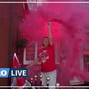 La folle de nuit de fête de Liverpool