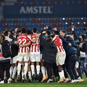 La joie des joueurs de l'Athletic Bilbao