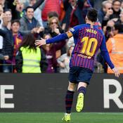 Grâce à un doublé de Messi, le Barça s'offre le derby
