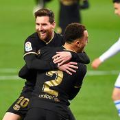 Sergino Dest et Lionel Messi
