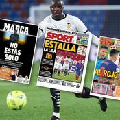 «Tu n'es pas seul», «Stop au racisme», la presse espagnole au soutien de Mouctar Diakhaby