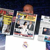 Zidane, le «retour du héros» salué par la presse espagnole