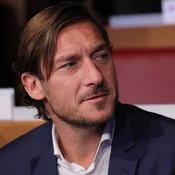 Former AS Roma player Francesco Totti before the UCL draw
