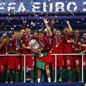 Joie de l'équipe du Portugal