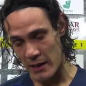 200e but avec le PSG: Cavani au bord des larmes à la télévision