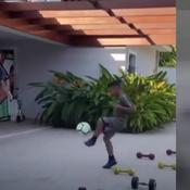 Thiago Silva entraîne des enfants
