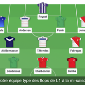 équipe type flops Ligue 1