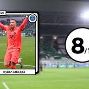 Les notes de ASSE-PSG : les Verts craquent, Mbappé et Neymar (se) régalent
