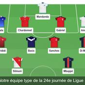 Notre équipe type de la 24e journée de Ligue 1