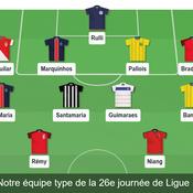 Notre équipe type de la 26e journée de Ligue 1.