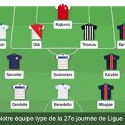 Notre équipe type de la 27e journée de Ligue 1