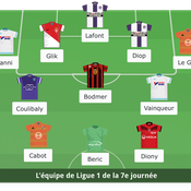 Ligue 1 : l'équipe type de la 7e journée