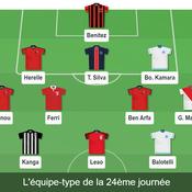 Ligue 1: notre équipe type de la 24e journée