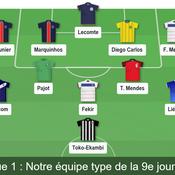 Ligue 1 : notre équipe-type de la 9e journée