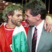 Marco Simone et Claude Puel