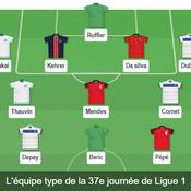 Ligue 1: Notre équipe type de la 37e journée