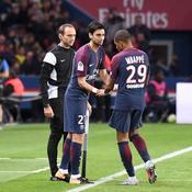 Javier Pastore et Kylian Mbappé