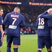 Angel Di Maria, Kylian Mbappé, Mauro Icardi et Neymar Jr (de gauche à droite) contre Saint-Etienne (6-1)