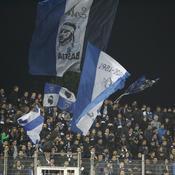 Supporters de Bastia, à Furiani