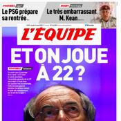 «Et on joue à 22 ?», le clin d'œil de L'Equipe à Aimé Jacquet