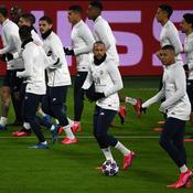 Les Parisiens à l'entraînements lundi, au Signal Iduna Park