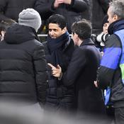 Nasser Al-Khelaïfi à l'occasion du match aller à Dortmund