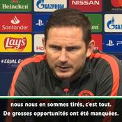 Lampard : «Je n'ai pas aimé le match»