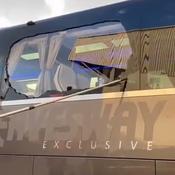 Le bus du Real Madrid caillassé à Liverpool