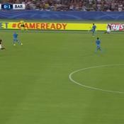 Le but fabuleux de l'AS Rome contre Barcelone