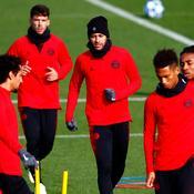 Neymar à l'entraînement