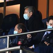 Nicolas Sarkozy dans les tribunes