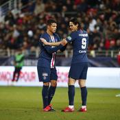 Thiago Silva et Edinson Cavani