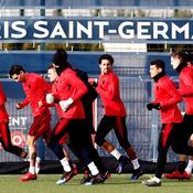 Le PSG à l'entraînement