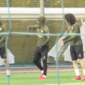 Quand les joueurs d'Arsenal s'entraînent ... à célébrer leur but