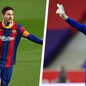Lionel Messi et Mike Maignan