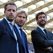 Fabio Paratici (44 ans, coordinateur technique de la Juventus) - ici avec Pavel Nedved et Andrea Agnelli