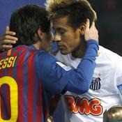 Lionel Messi et Neymar lors des la Coupe du monde des clubs 2011, à Yokohama (Japon)