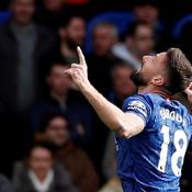 Olivier Giroud a profité 'avoir un peu plus de temps jeu pour marquer, ici contre Tottenham