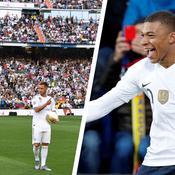 Quand les fans du Real réclament Mbappé pendant la présentation d'Hazard…